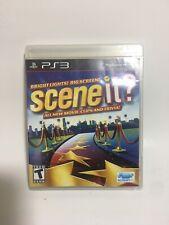 Scene It Bright Lights Big Screen (Sony PlayStation 3, 2009) PS3 Manual&disc
