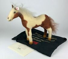 STEIFF -AMERICAN PAINTED HORSE- Ltd Ed LAST FRONTIER ANIMAL BEAR PONY COA 667435