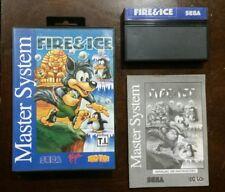 Sega Master System FIRE & ICE Complete CIB TecToy Brazil