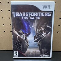 Transformers: The Game (Nintendo Wii, 2007) Complete In Case W/ Manual- Tested