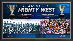 Western Bulldogs 2016 Premiers Team of the West Premiership Cups Framed 1954