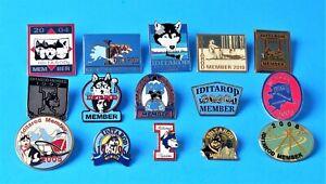 Nice Lot of 15 Differents Alaskan Iditarod Enameled Pin