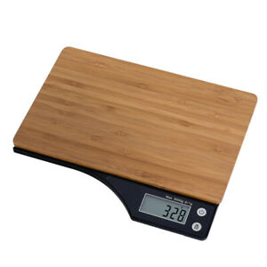 5kg Style Bamboo Kitchen Cooking Food Digital Scales Chef Tools Lightweight