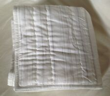 Hotel Collection Linen Fog Quilted Euro Pillow Sham White/Gray Retail $100
