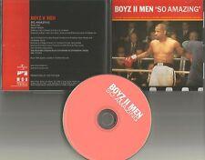 BOYZ II MEN So Amazing w/ RADIO EDIT 1999 USA PROMO Radio DJ CD Single MINT boys