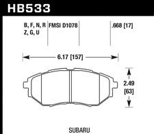 Hawk Disc Front Brake Pad for 10-15 Subaru Outback # HB533N.668