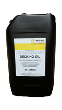 Decking Oil 25 Litre 25L  - Clear Matt Treatment - UV Guard