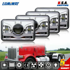 "4X 4x6""inch 150W Rectangle Led Headlight Hi-Lo Seal Beam for Peterbilt Kenworth"