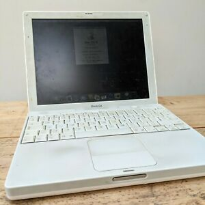 """Apple iBook G4 12"""" (Early 2004) - 256GB RAM - mostly working, spares or repair"""