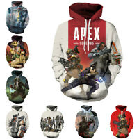 APEX Hoodies Apex legends Pullover 3D Print Sweatshirt Hooded Casual Jacket Coat