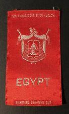 Vintage c1910 Egypt Richmond Straight Cut Cigarette Silk
