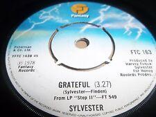 "SYLVESTER "" DANCE ( DISCO HEAT ) / GRATEFUL "" 7"" SINGLE  1978 EXCELLENT"