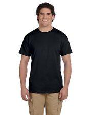 24 T-SHIRTS Blank Black BULK LOT PLAIN Wholesale  2XL 3XL 4XL 5XL 6 each sizes