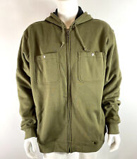 Duluth Trading Co Mens Fleece Lined Hoodie Jacket Full Zip Green size 2XL