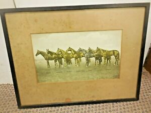 """Original montage of seven famous race horses from around the 1920""""s"""