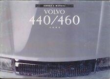 Volvo 440 & 460 1992-1993 Original Owners Manual (Handbook) In English