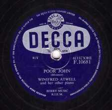 UK #1 WINIFRED ATWELL 78  POOR JOHN / THE POOR PEOPLE OF PARIS DECCA F 10681  EX