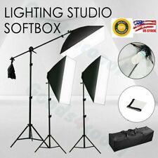 3* Photography Photo Studio Light Lighting Continuous Softbox Lighting Stand Kit