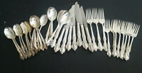 Rogers & Bro Southern Splendor Royal Pageant Silverplate Flatware 41 Pce Mix Lot