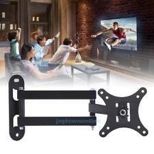 10''-32'' LCD TV Stand Swivel Bracket Rack Frame Flat Retractable Wall Mount