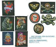 Assorted Goth Thrash Rock Original Sew On Patches X 10