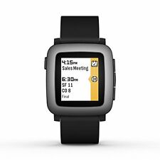 Pebble Time 501-00020 Smartwatch - Black. Built-In Microphone -Magnetic Charging