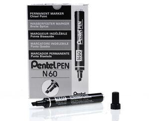 Pentel Permanent Marker Pen N60 N50 [Pack 12]