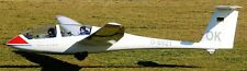 G103 Twin Astir Grob Sailplane Airplane Mahogany Wood Model Small
