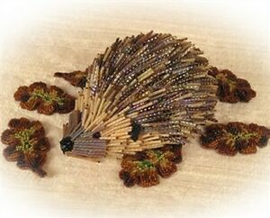 """""""Spike"""" The Beaded Hedgehog BEADING INSTRUCTIONS suitable for complete beginners"""