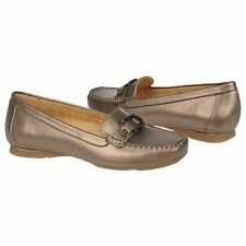 NATURALIZER SOPHIE NICKEL ALLOY METALLIC LEATHER LOAFER WOMEN SHOE SIZE 8.5 M