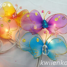 20 Butterfly Bug Multi Colour Fairy Lights String 3.5M PARTY,PATIO,WEDDING