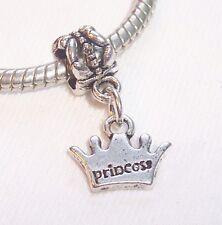 Princess Crown Daughter Little Girl Gift Dangle Bead for European Charm Bracelet
