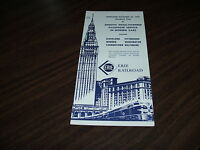 OCTOBER 1959 ERIE RAILROAD FORM CPW CLEVELAND SERVICE PUBLIC TIMETABLE