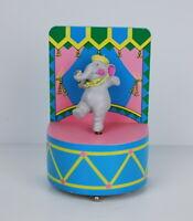 San Francisco Music Box Company Cute Dancing Elephant Blue Pink Wood Works Great