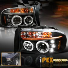 "1997-2004 Dodge Dakota/Durango ""Brightest Halos"" Projector LED Black Headlights"