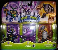 Skylanders Swapforce Triple pack Dune bug, Phantom Cynder, Knockout terrafin fig