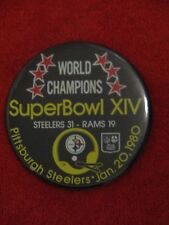 1980 SUPER BOWL XIV PIN PITTSBURGH STEELERS vs. LOS ANGELES RAMS