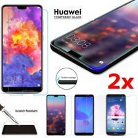 100% 9H Tempered Glass Screen Protector Huawei P20 Pro Lite P Smart Nova 3i