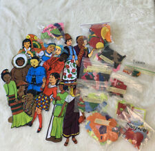 Vintage Lot Of Felt Board Applique Shapes People Of The World Dino 00006000 s Fairytales