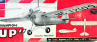 """Two BUHL BULL PUP PLANS + CONSTRUCTION ARTICLE for 35"""" FF or RC Model Airplanes"""