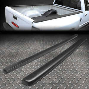 FOR 99-07 SILVERADO/SIERRA 6.5FT BED SATIN BLACK TRUCK RAIL CAPS COVER MOLDING