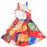 Gummy Bears Macro Up Close Candy Sugar Rainbow Colorful Yum Summer Skater Dress