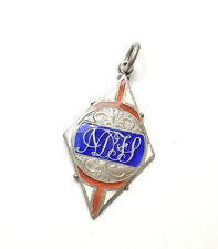 Antiguo Birmingham 1924 Plata Esmalte Henry slingsby Albert fob Medalla 7.2 G