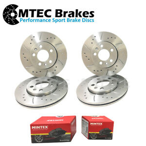 BMW 5 F10 535d 07/11-12/17 Drilled Grooved Front & Rear Brake Discs & Pads