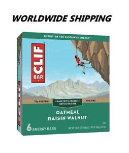 Clif Bar Oatmeal Raisin Walnut Energy Granola Bars 6 Ct WORLDWIDE SHIPPING