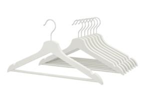 PREMIUM QUALITY WOODEN CLOTH HANGERS Adult Coat Suit  WHITE WOOD Hanger