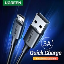 Ugreen 3A Fast Charging Micro USB Data Charging Phone Cable for Samsung HTC LG