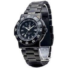 Smith & Wesson Men's Commander Tritium H3 Black Stainless Steel Strap Watch