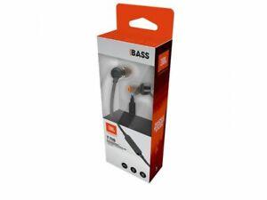 JBL Kopfhörer T110 In-Ear Flachkabel 3,5mm Headset mit Bass Sound Schwarz