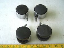 "Plastic Wheel Swivel Studded Casters 3/8"" bolt lot of 4 used"